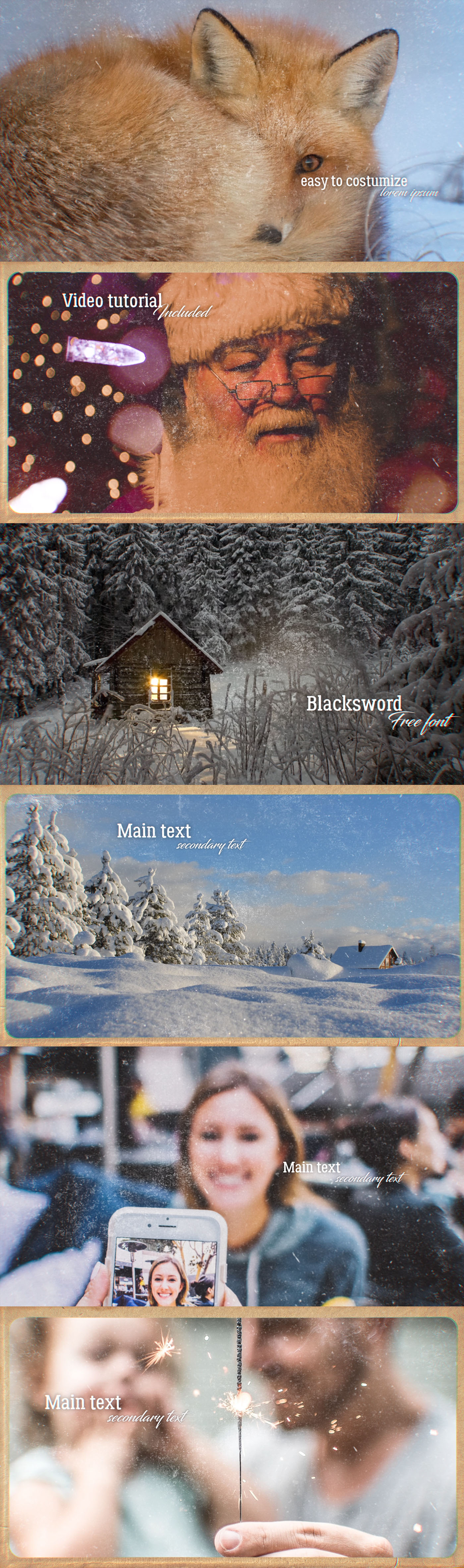 free Kinfolk download slideshow vintage promo old photo new year Christmas brush