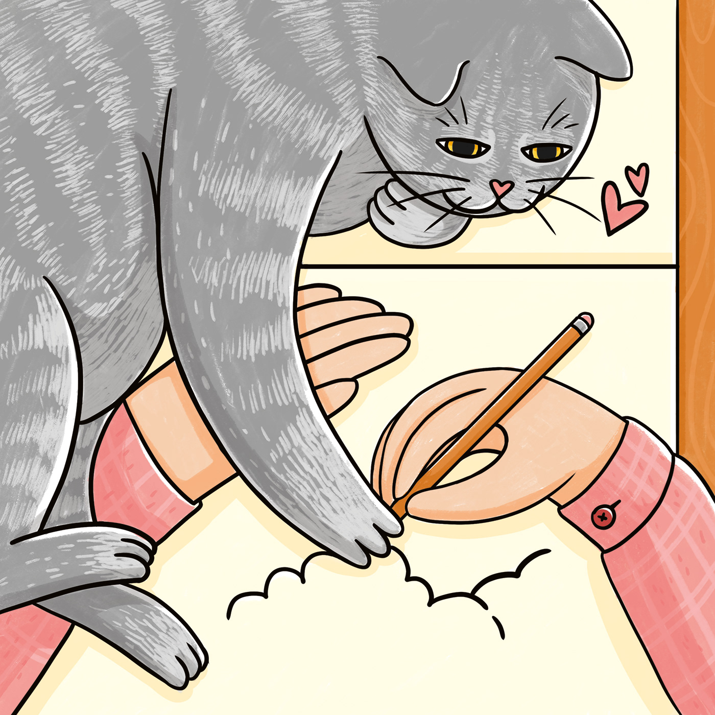 Image may contain: cartoon, cat and drawing