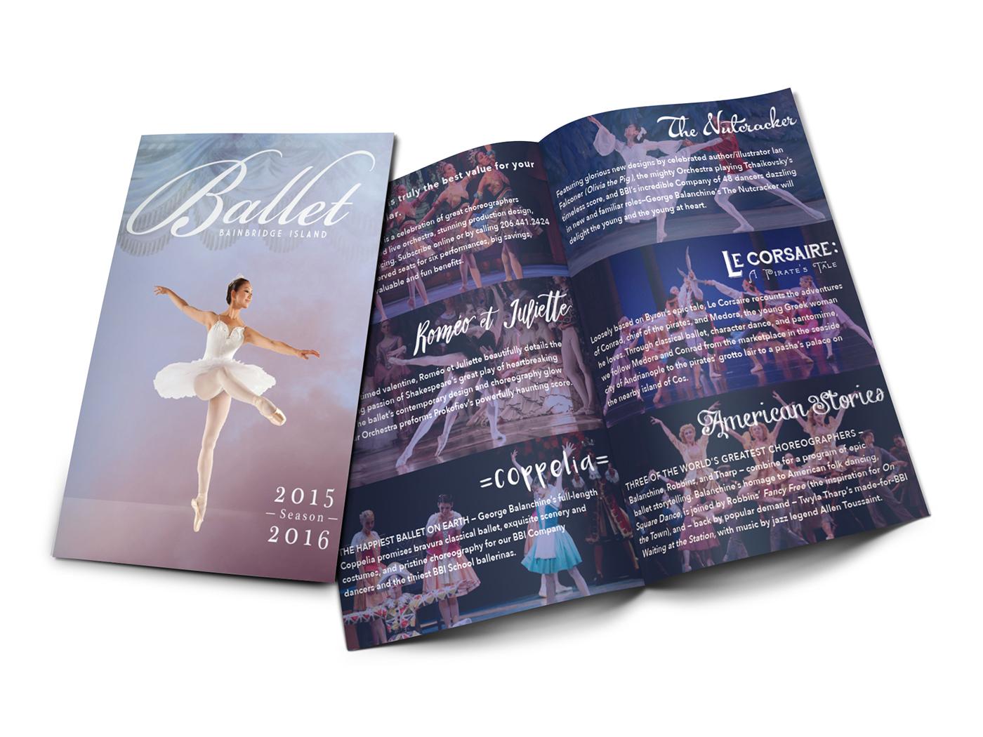 Balet Bainbridge Island. bbi balletbi 8-panel 8 panel brochure Brand Design brand identity m. holsinger monica holsinger monica holsinger