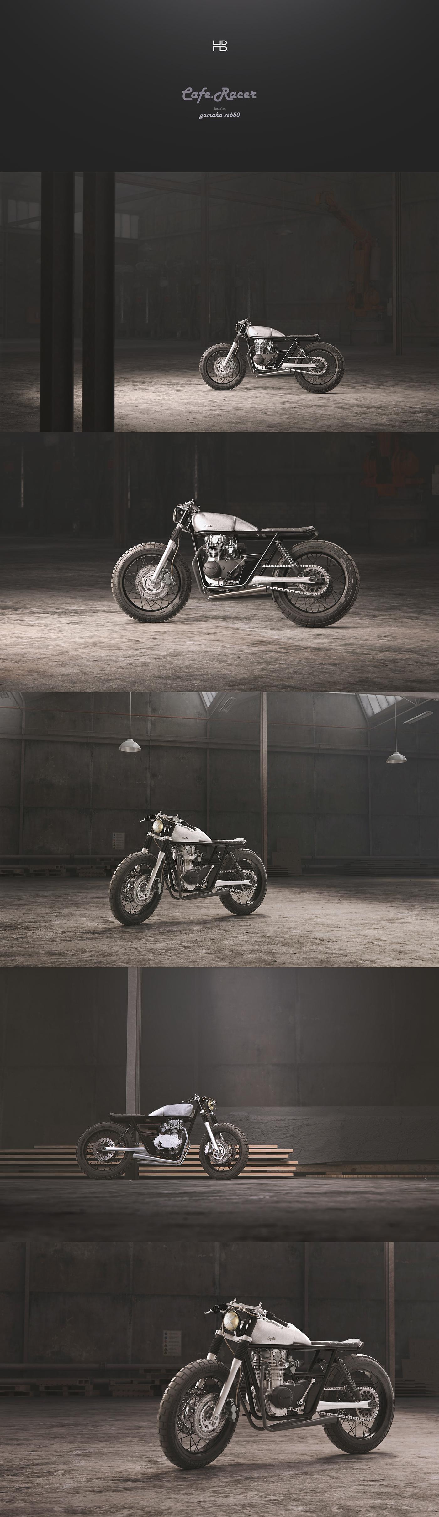Cafe Racer //Yamaha xs650 // FULL CGI on Behance