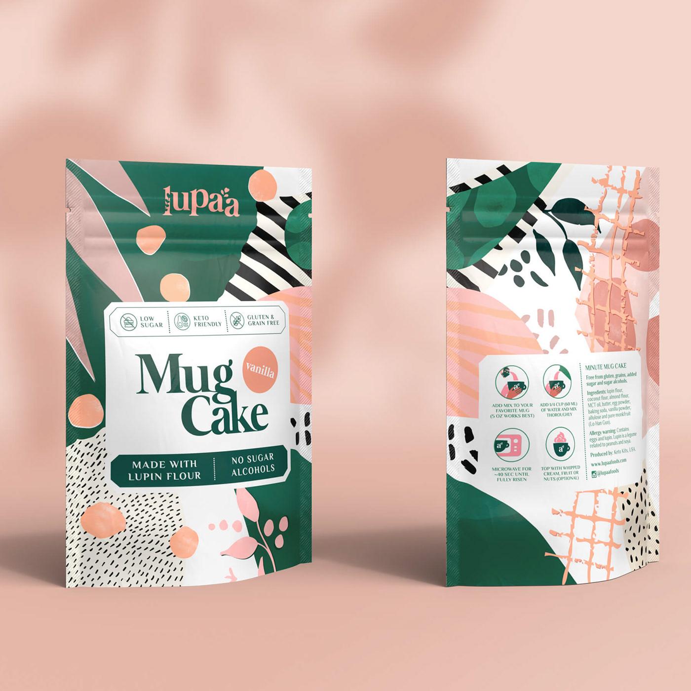 baking cupcake flour Food Packaging mug cake Packaging pouch