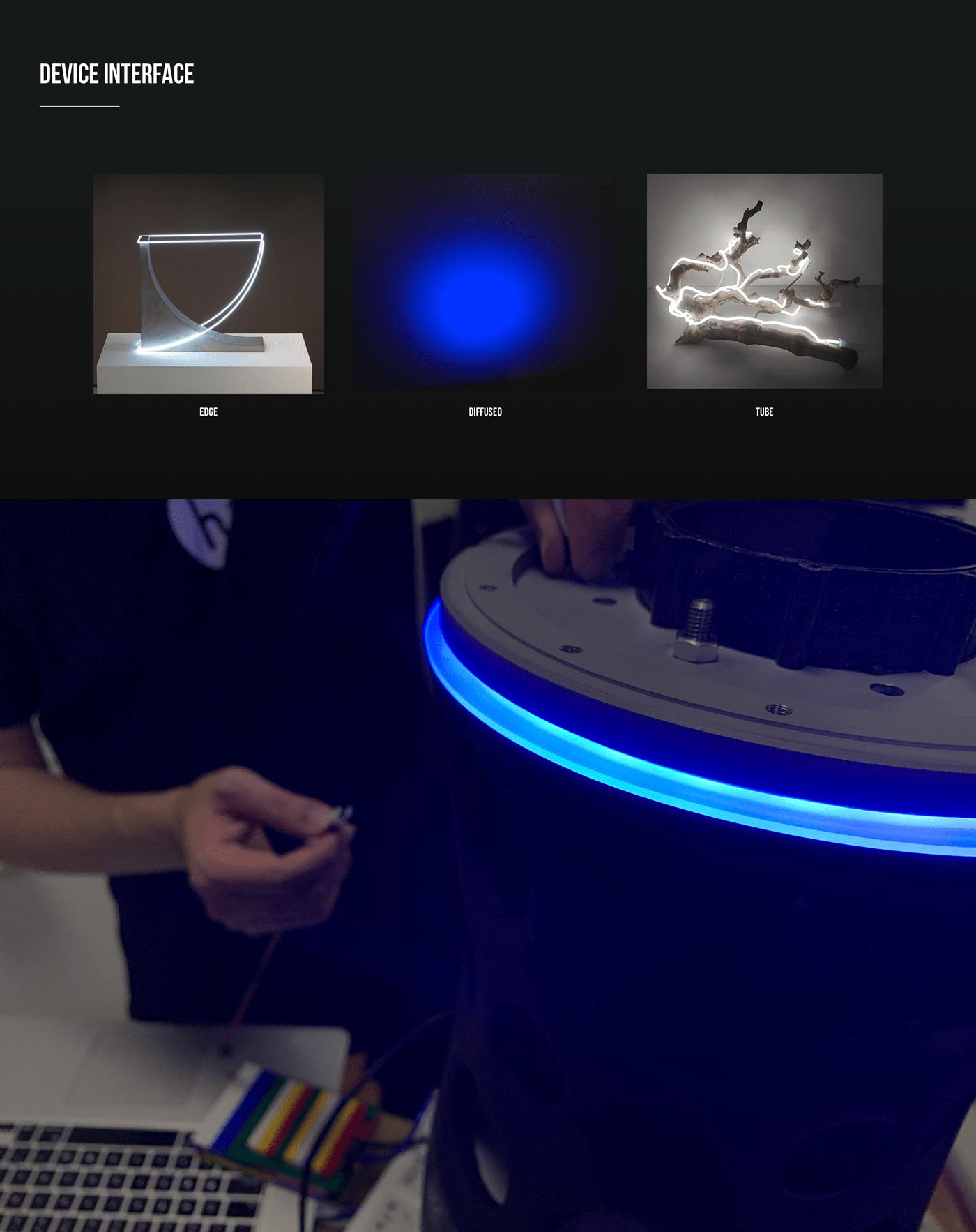 app Audio beamforming Interface led lexicon luxury soundsteer speaker sphere