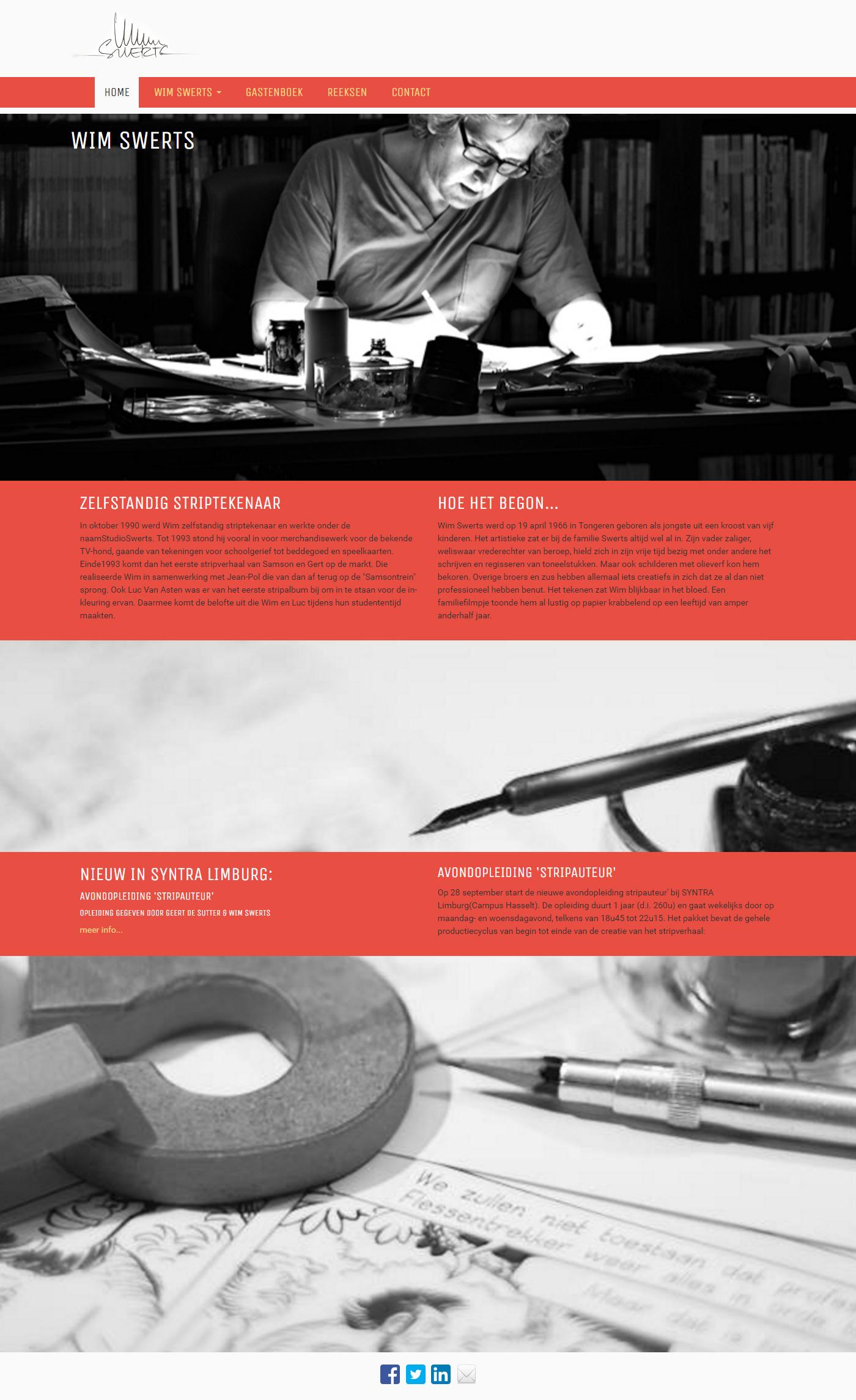 Website portfolio Wim swerts Drupal css