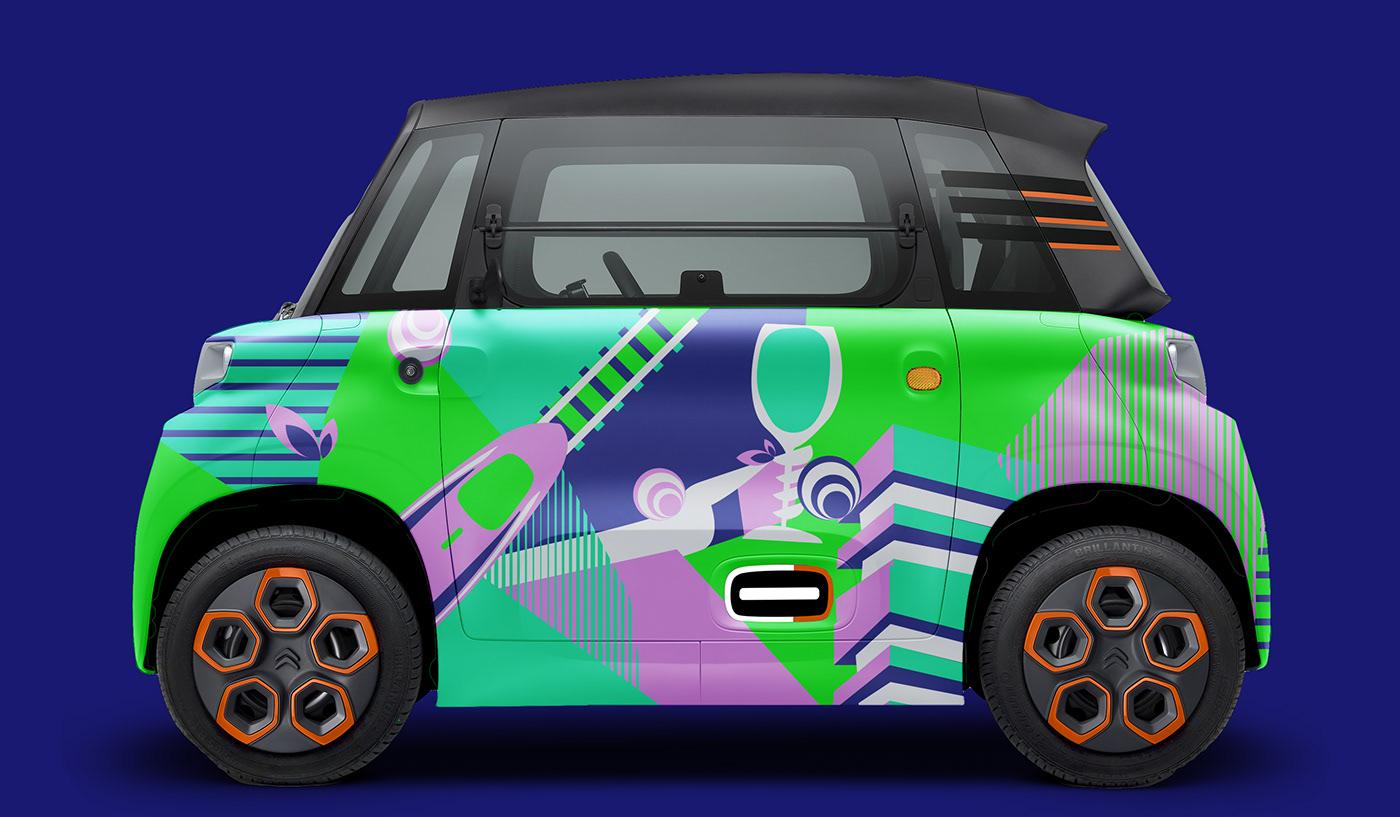AMI automotive   car citroen design electric milan city Paris mobility