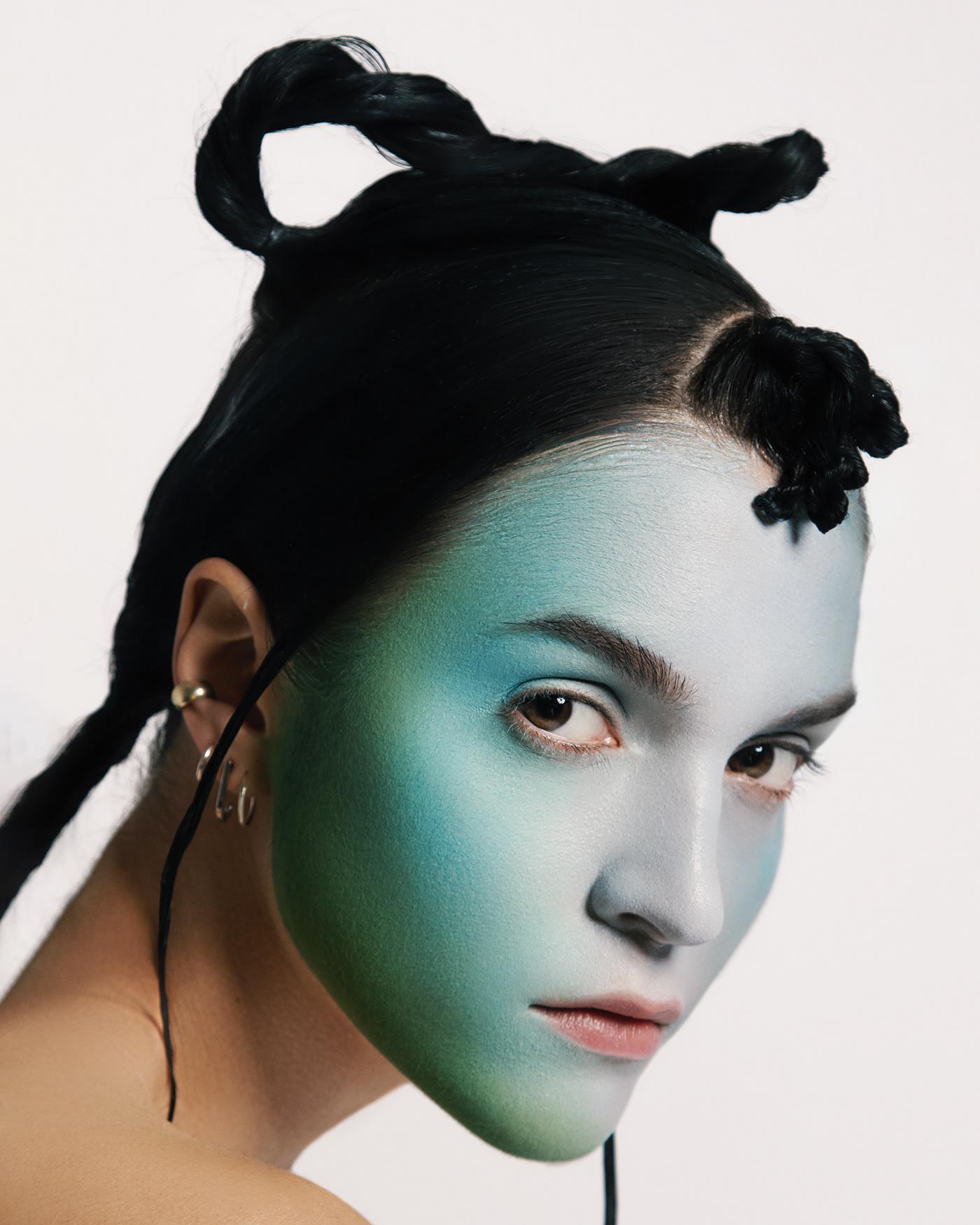 beauty editorial Fashion  magazine makeup model photographer Photography  photoshoot portrait