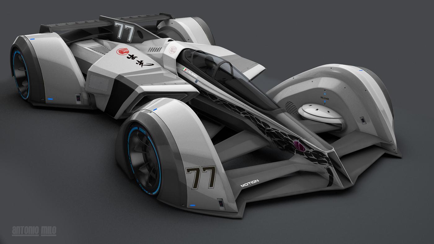 0 x concept race cars on behance. Black Bedroom Furniture Sets. Home Design Ideas