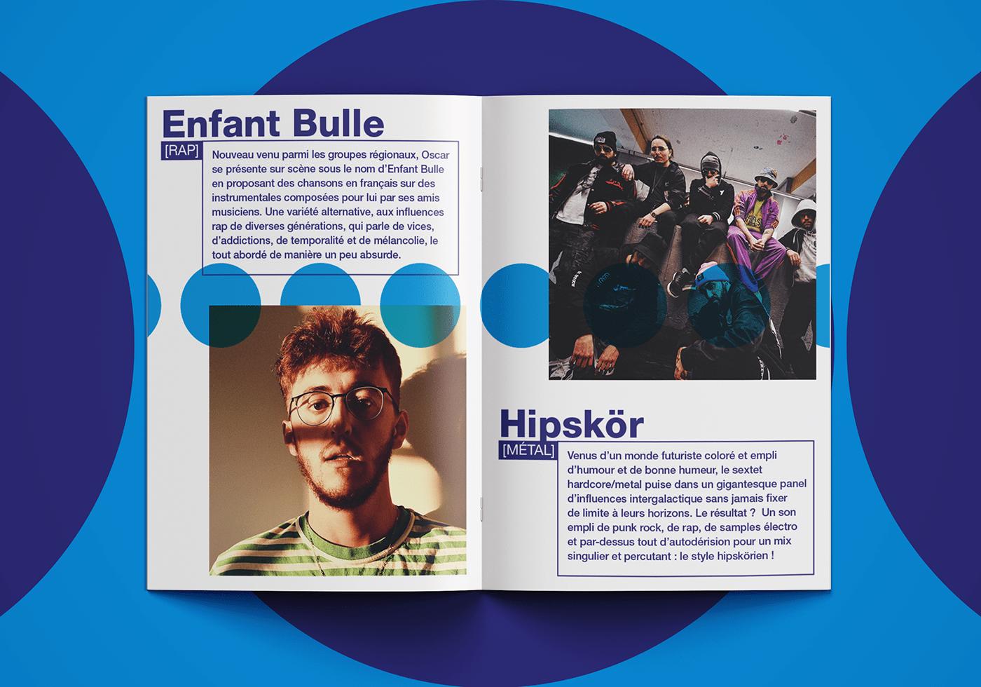 affiche Association design graphique encart presse festival flyer mise en page Musique print