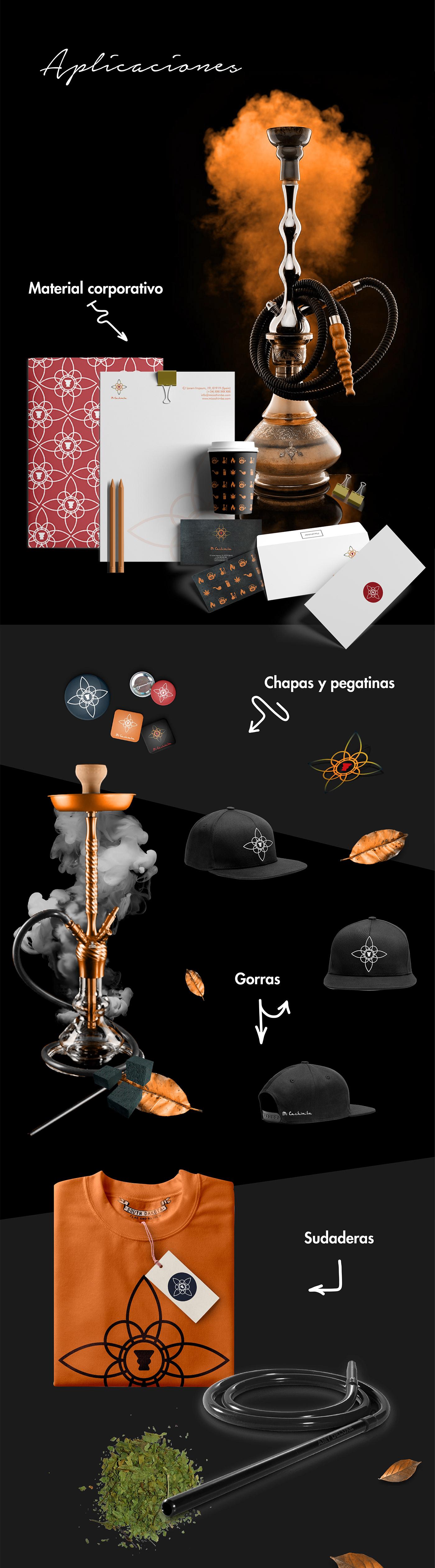branding  brand identity cachimbas hookah Identidad de marca micachimba logo animation logo animation