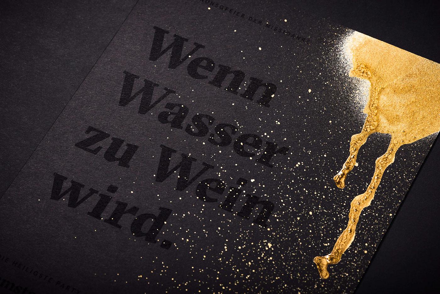 graphic design gold Graffiti holy jesus black White branding