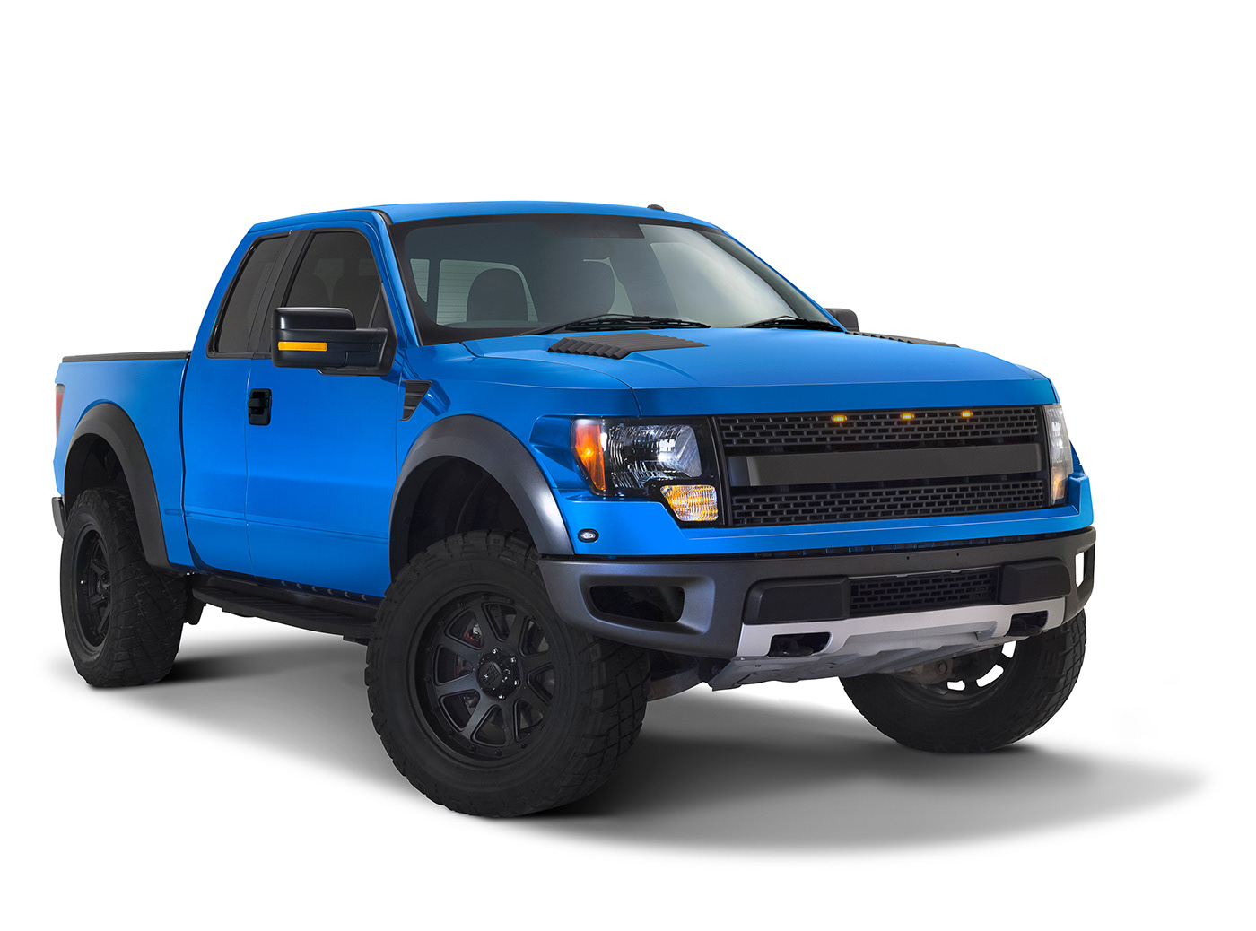 Image may contain: car, truck and blue