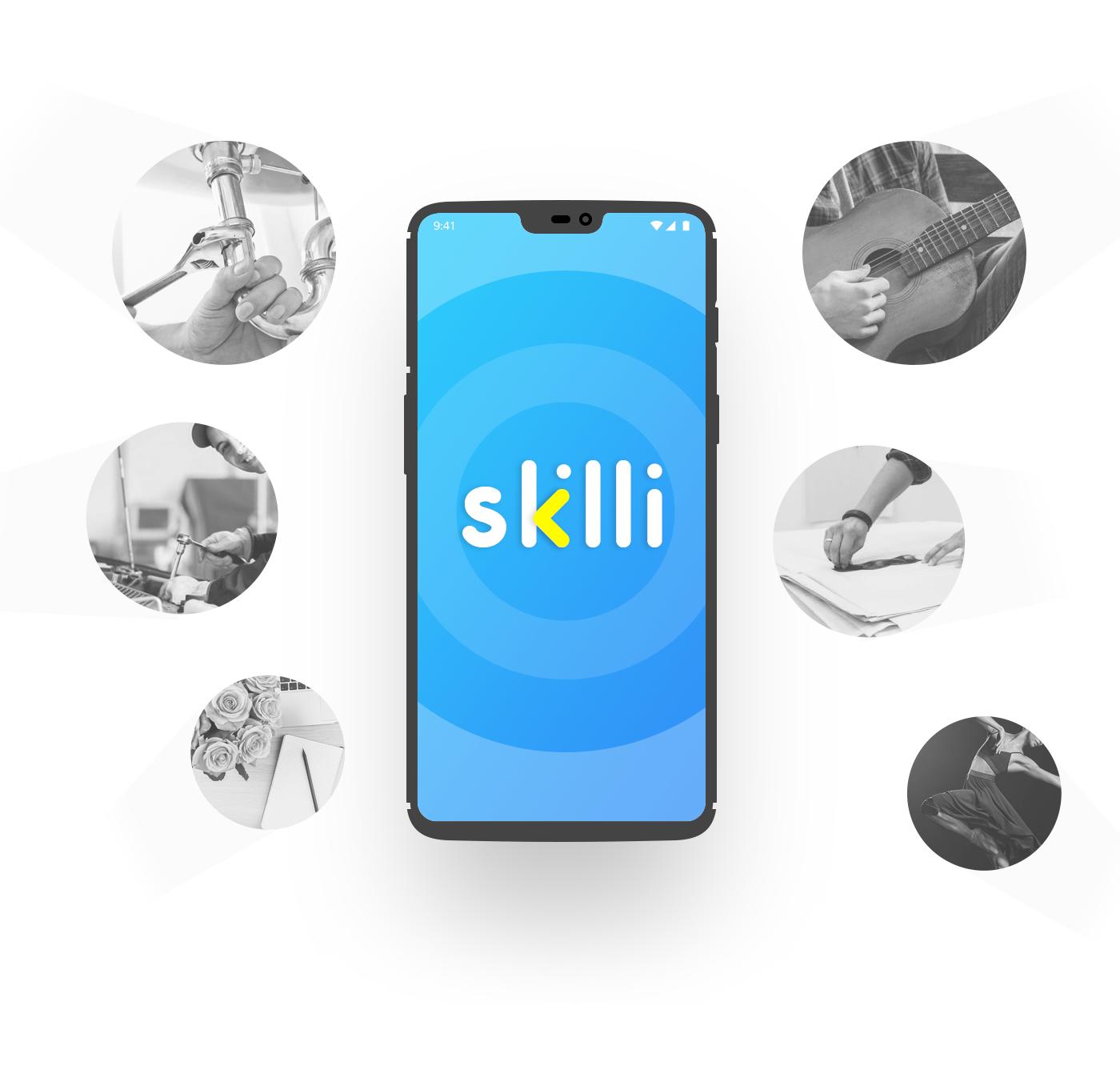 skill freelancer UI Mobile UI UI/UX graphics app ui wireframe creative user interface