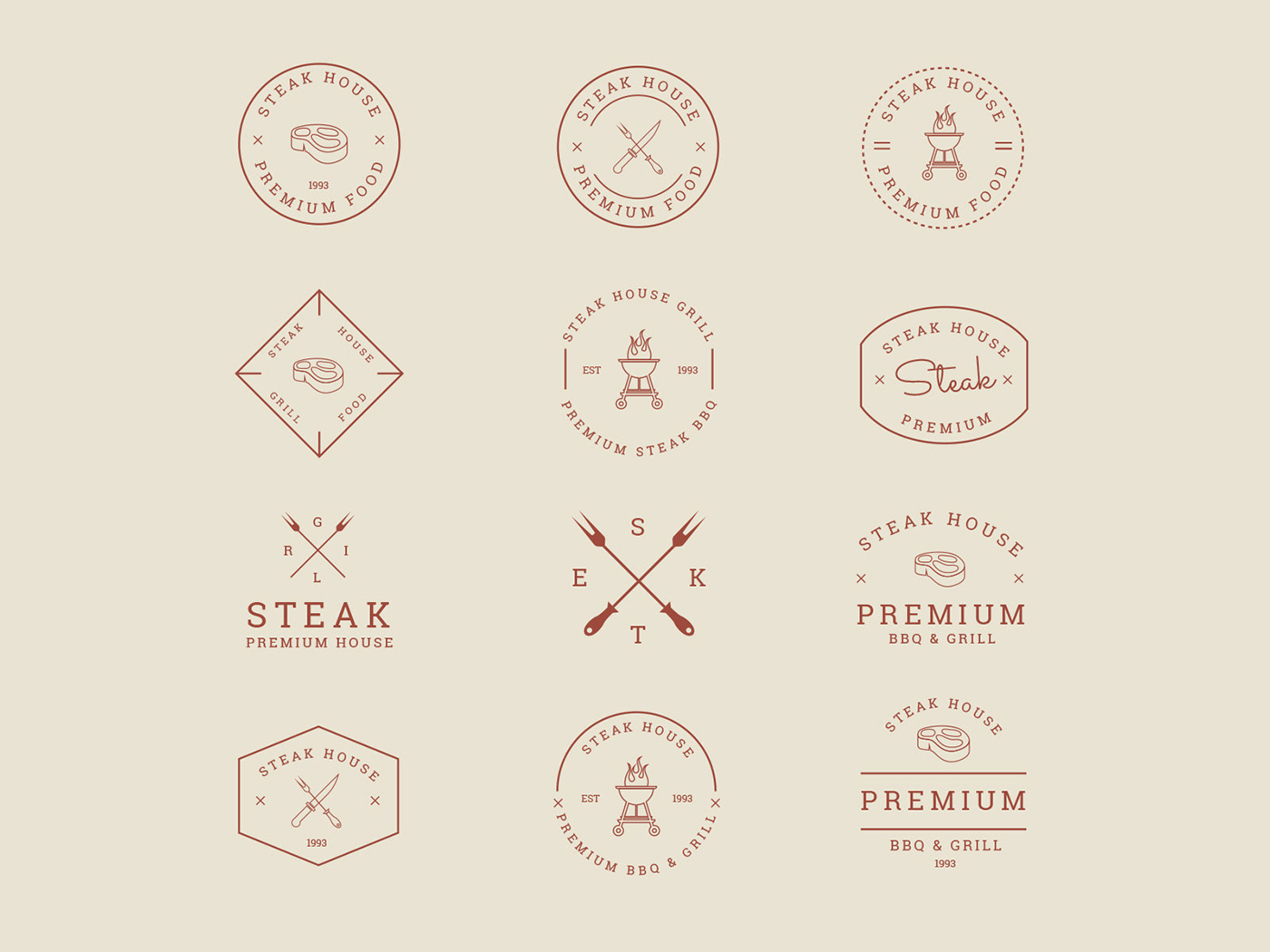 bbq badge bbq icon bbq vector freebie grill icon design  icons download icons pack icons set vector icon