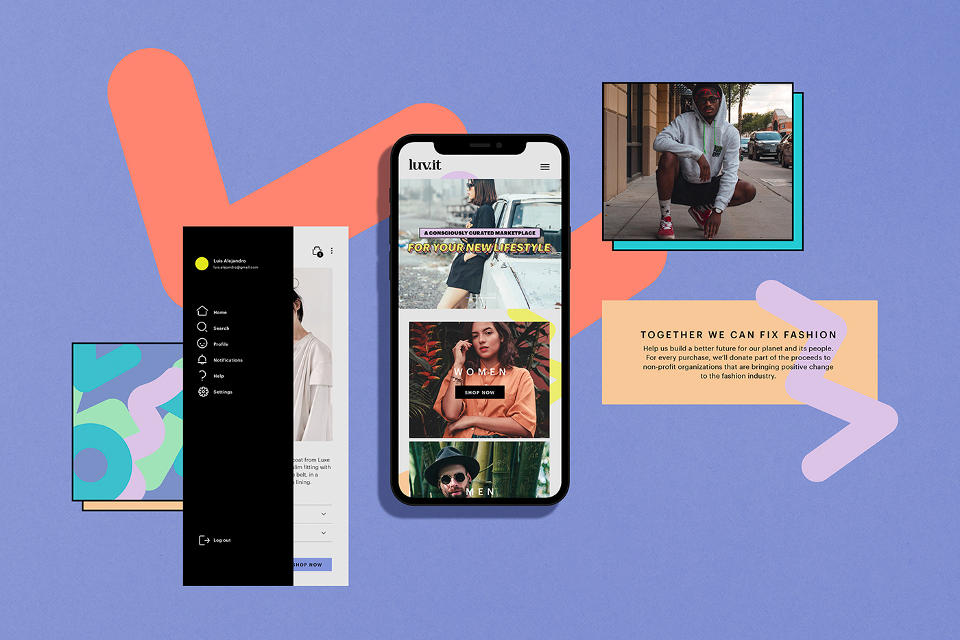 3D branding  design Fashion  Icon iconography online pattern Render Web