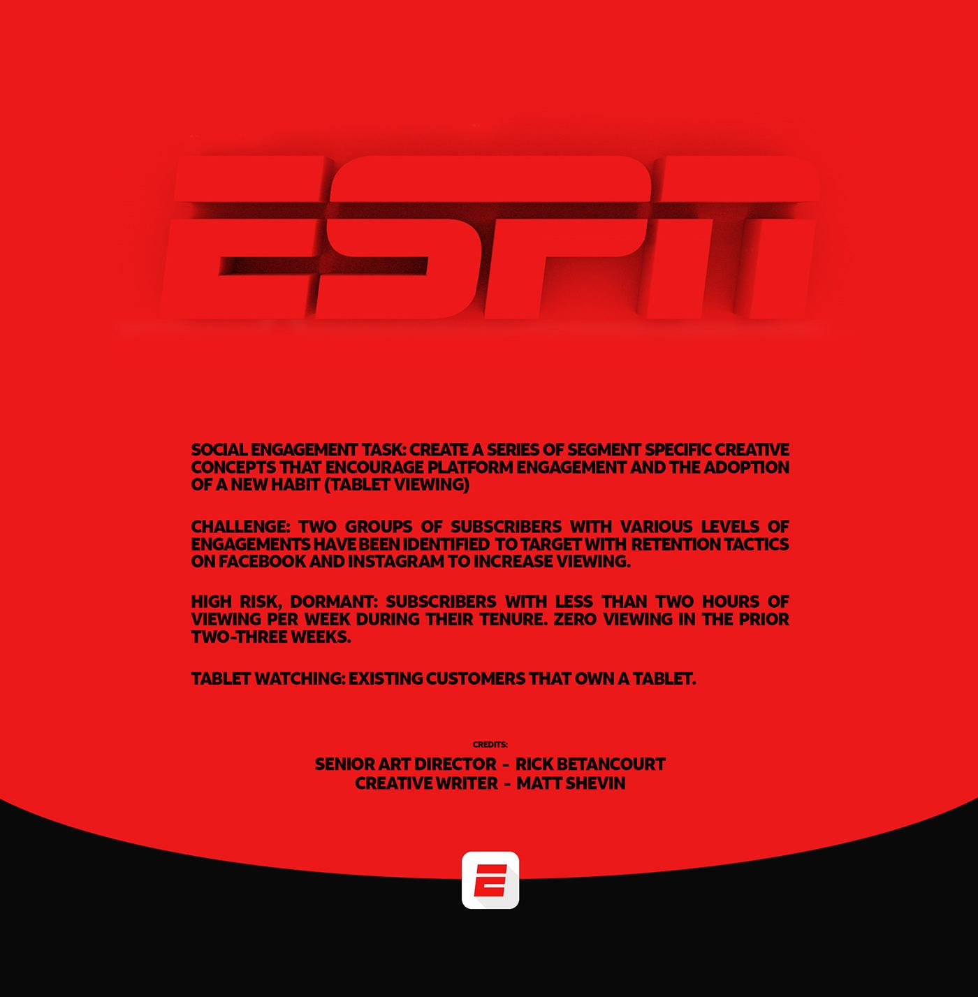sports ESPN basketball social media instagram facebook social campaign directvnow retouching  mobile