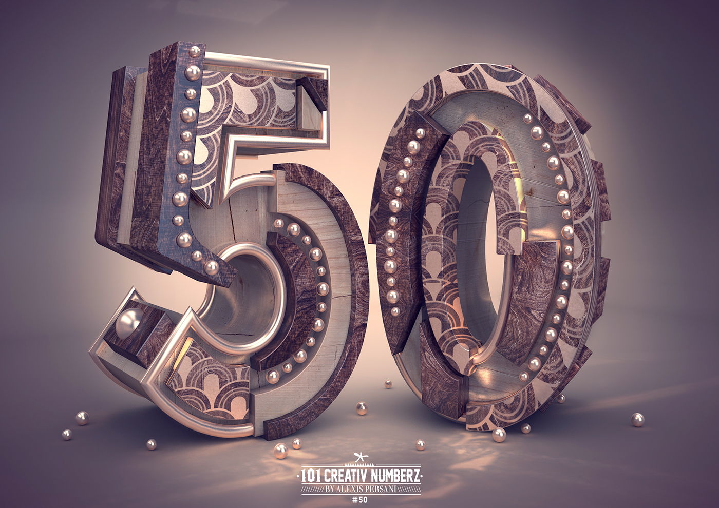 Outstanding 101 Creative Numbers Typography by Alexis Persani 46