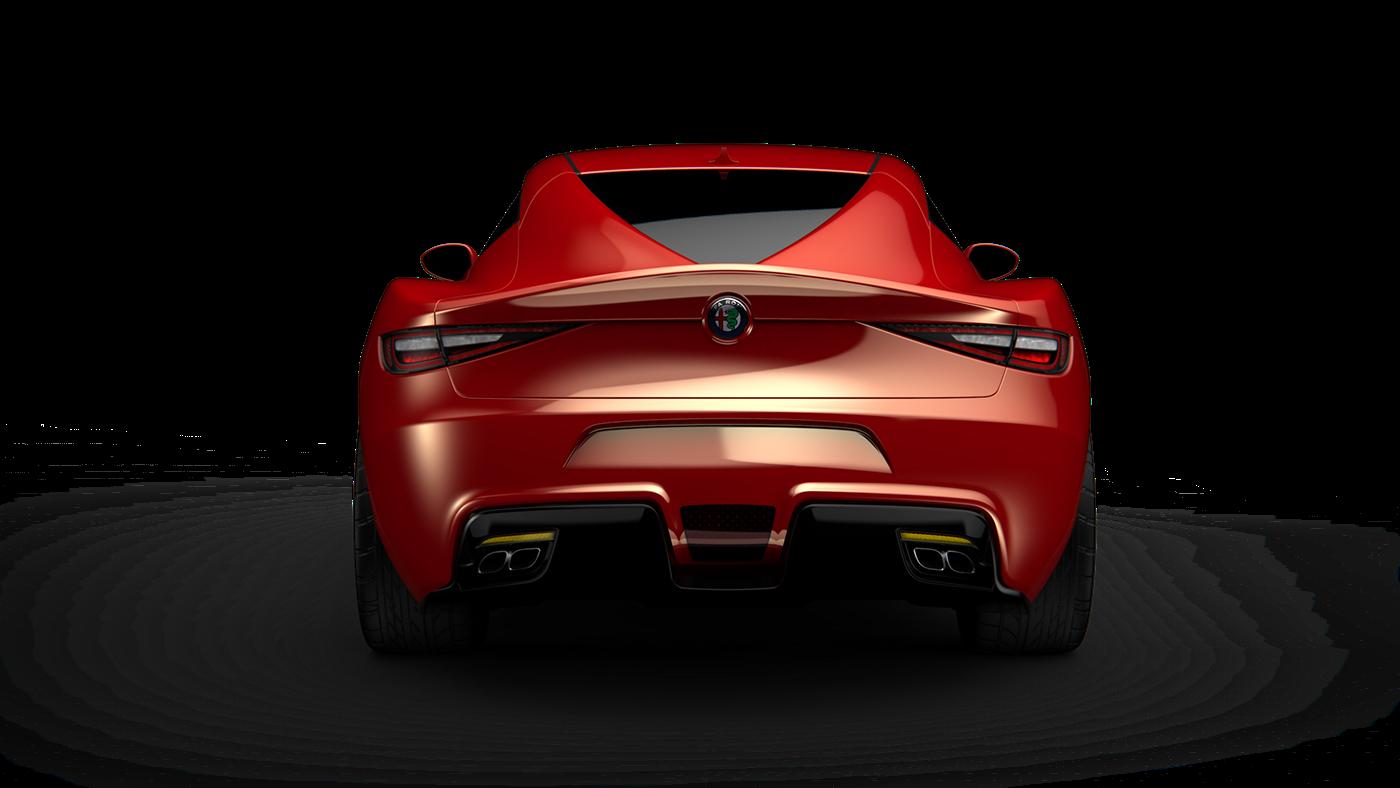 Alias ketshot alfa romeo coupe 3D 3dmodeling concept car