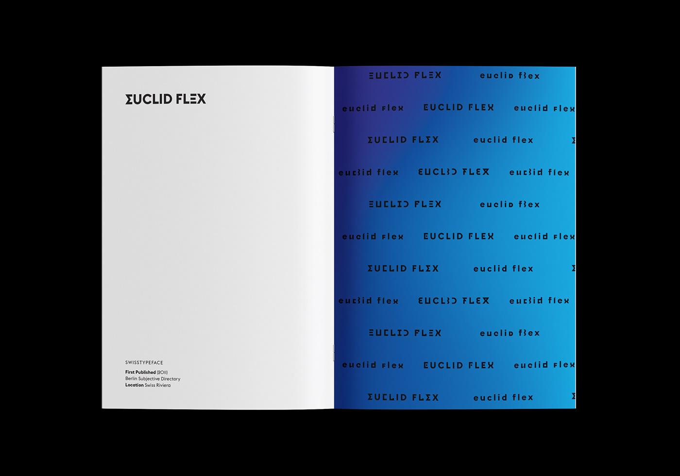 Type Specimen: Euclid Flex on Behance