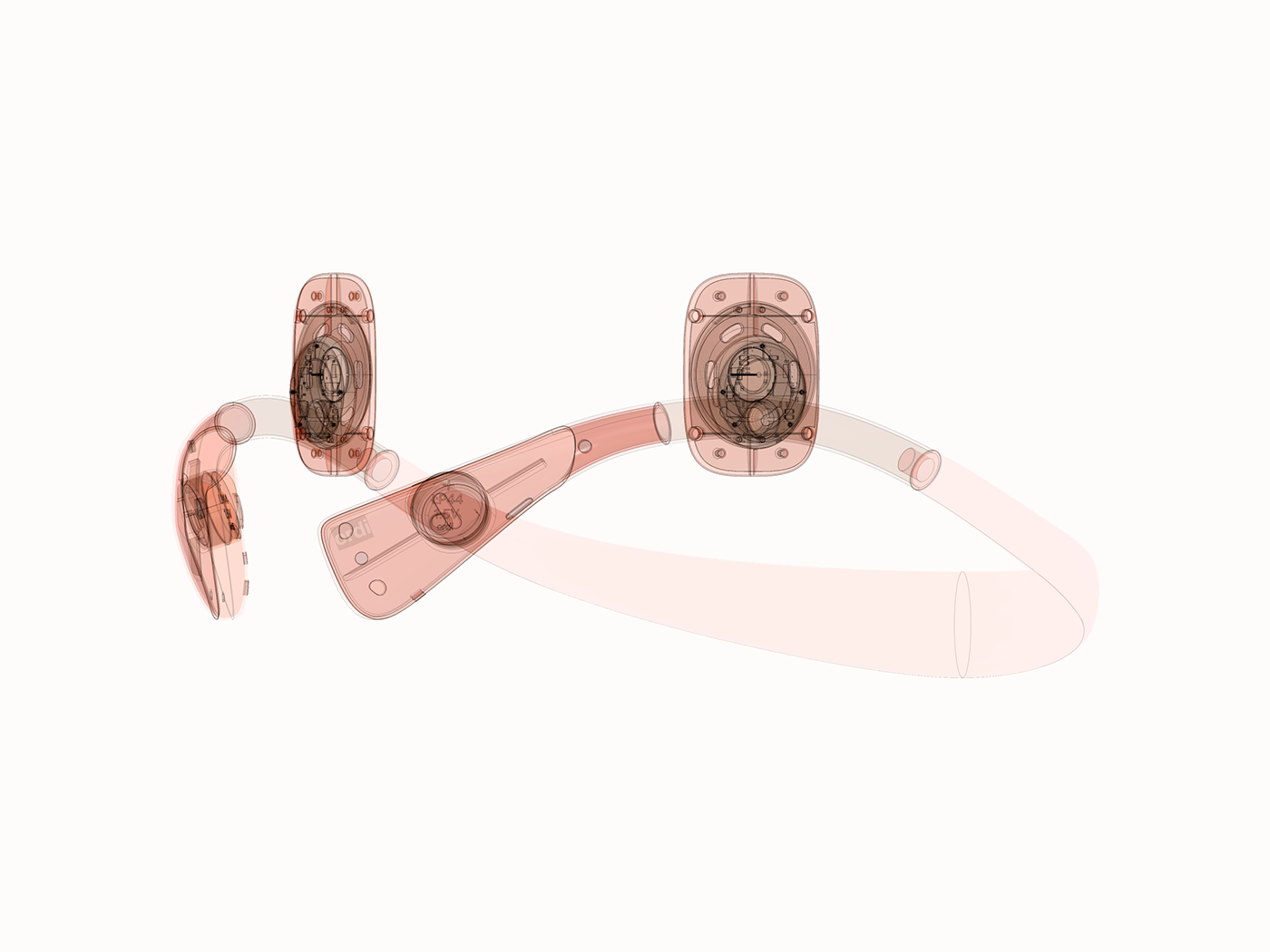 headphone hearing aid industrial design  medical portable product Wearable color music product design