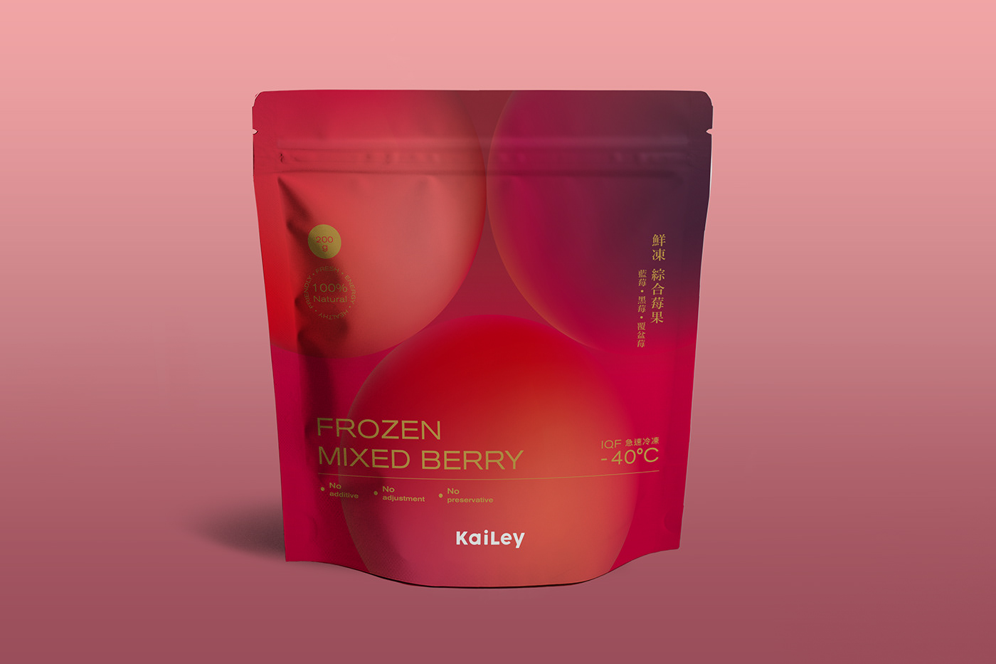 KaiLey Frozen Fruit Package Design
