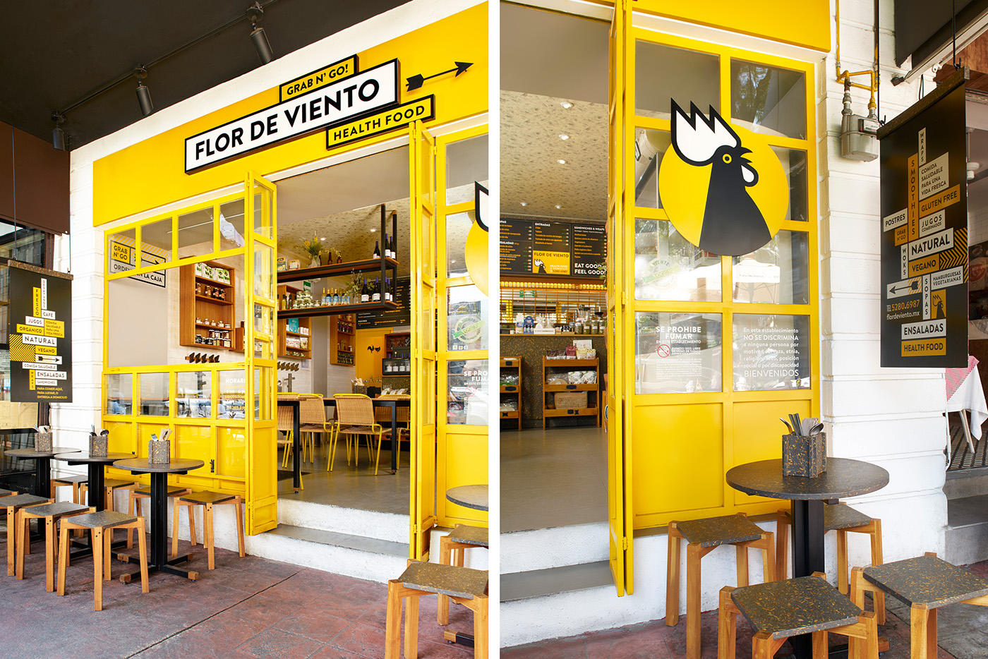 Flor de viento restaurant branding on behance