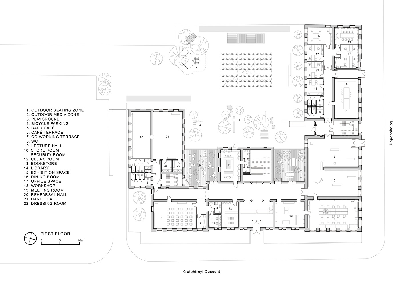 Plan Dressing En U dnipro center for contemporary culture on behance