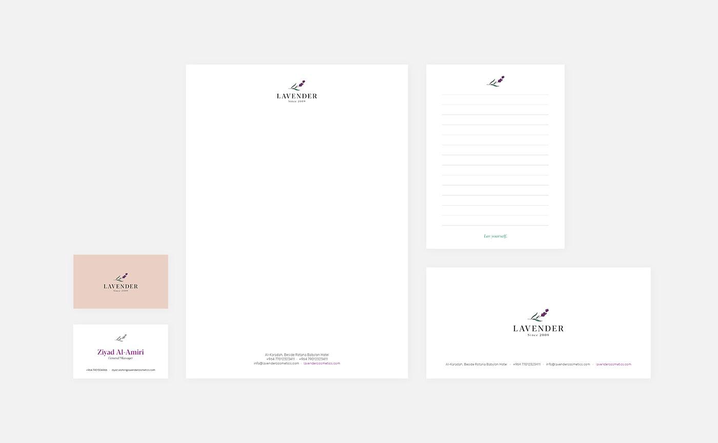 Lavender Stationery Design