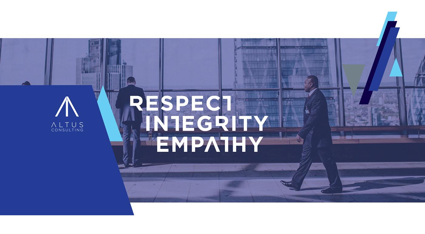 branding  Website Design aimlessfly graphic design Altus Consulting blue logo