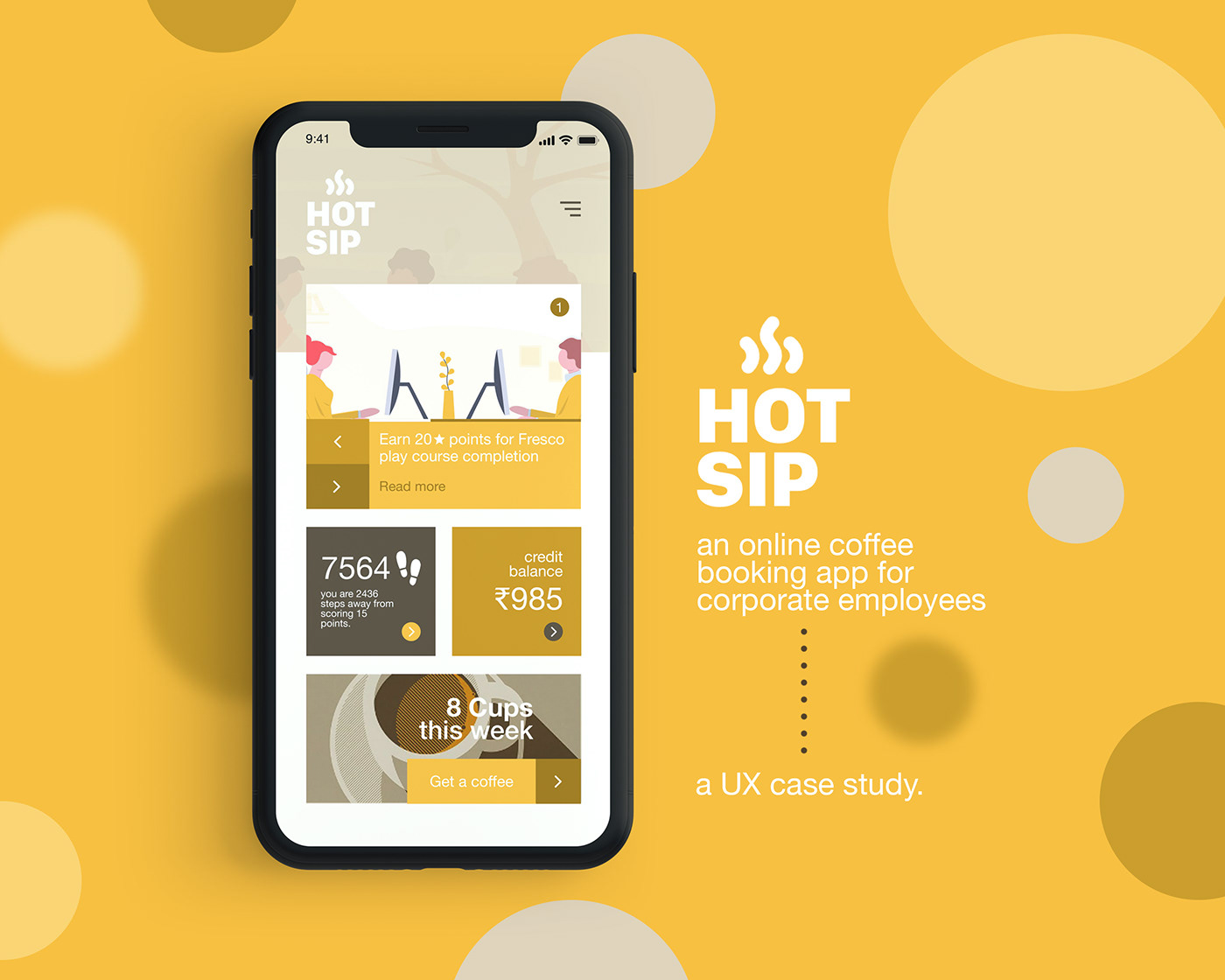 HotSip - Coffee booking | UX Case Study on Behance