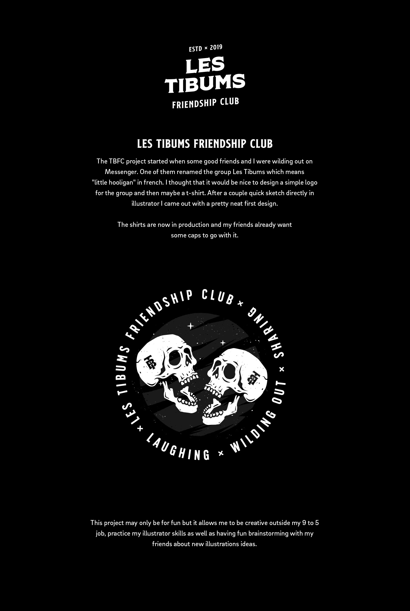 skull Hooligan friendship club ILLUSTRATION  tshirts laughing