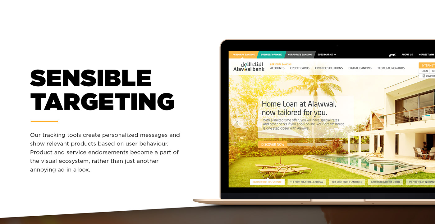 Multichannel Website app online banking redesign digital