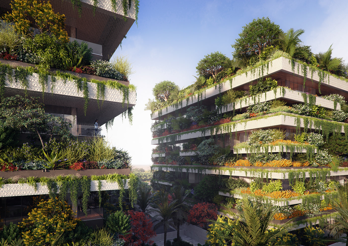 3D architecture green building rendering Render marketing   art direction  architectural visualization