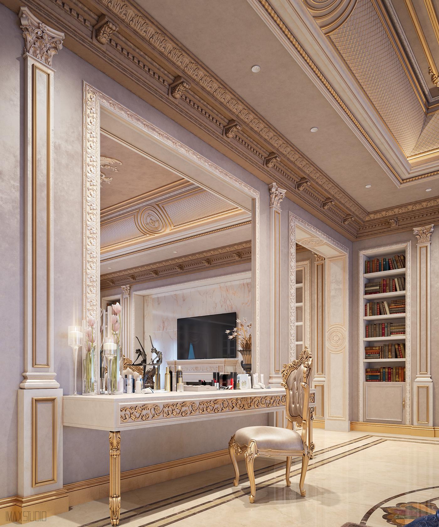 Interior interior design  Master bedroom luxury