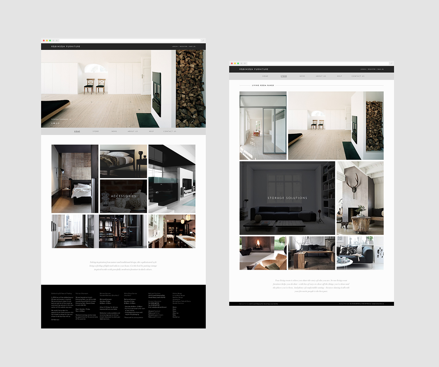 Røbinsøn Furniture Online Store UX Concepts