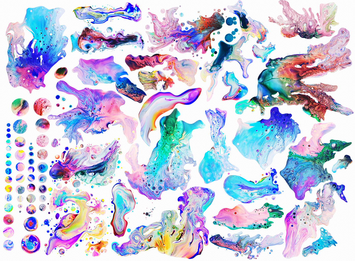 Digital paintings created for Adobe Indesign