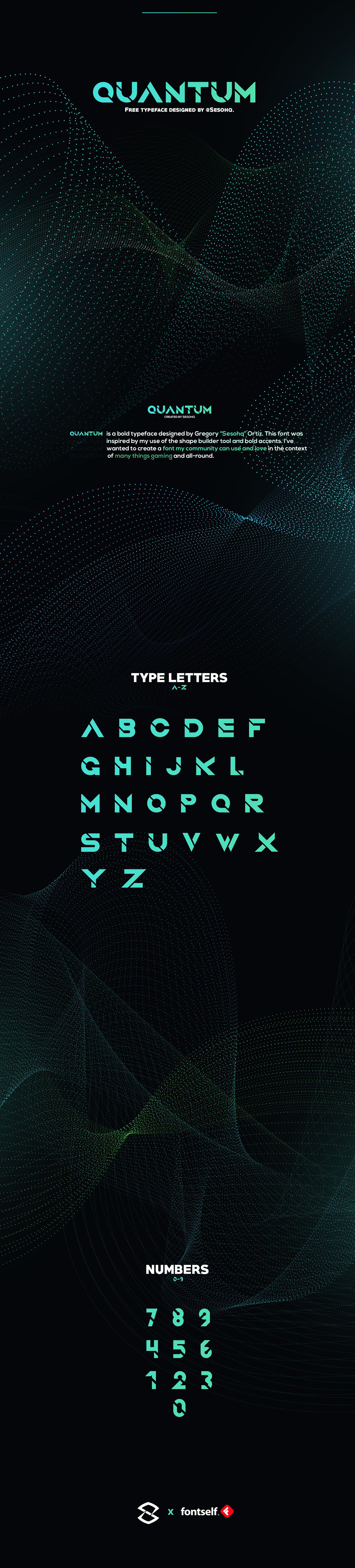 free font bold font futuristic sesohq Typeface fontdesign typography