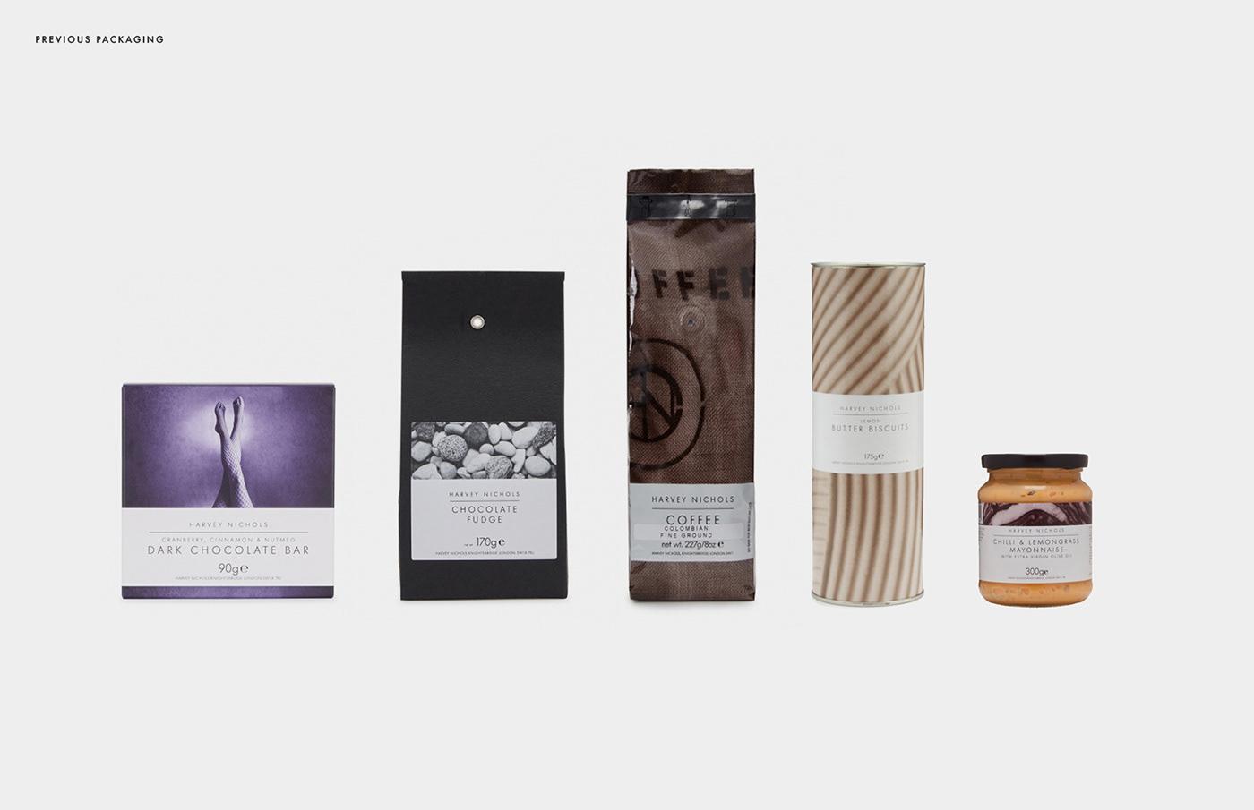 chocolate Coffee collage Harvey Nichols ILLUSTRATION  Packaging Party snacks pattern premium tea