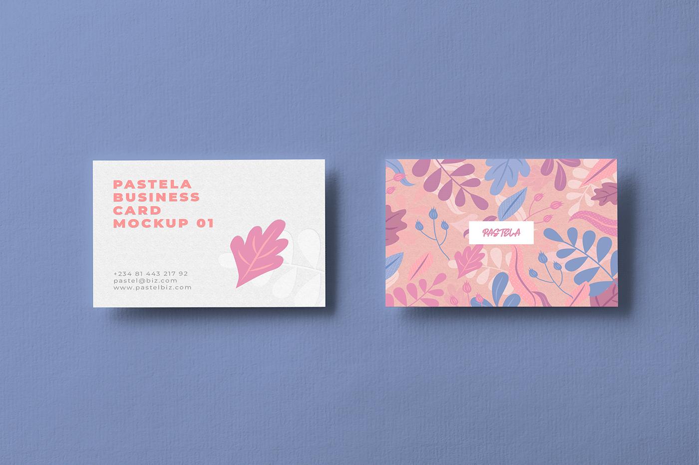 beautiful designs Branding Mockups business card Floral design free business card free download Free Mockups freebies mockups print template