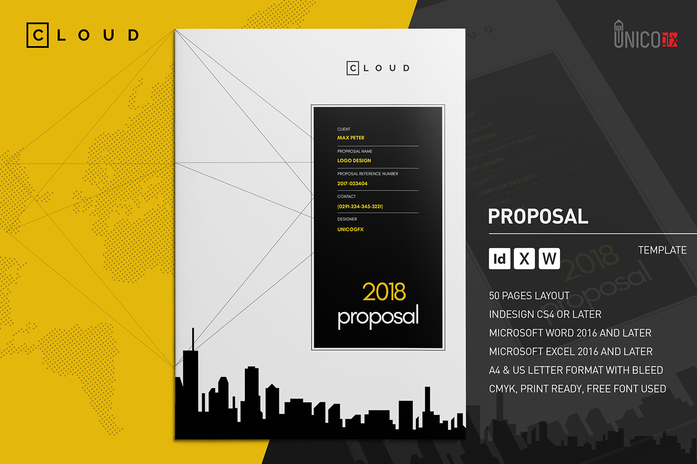 Proposal a4 and us letter on behance spiritdancerdesigns Gallery