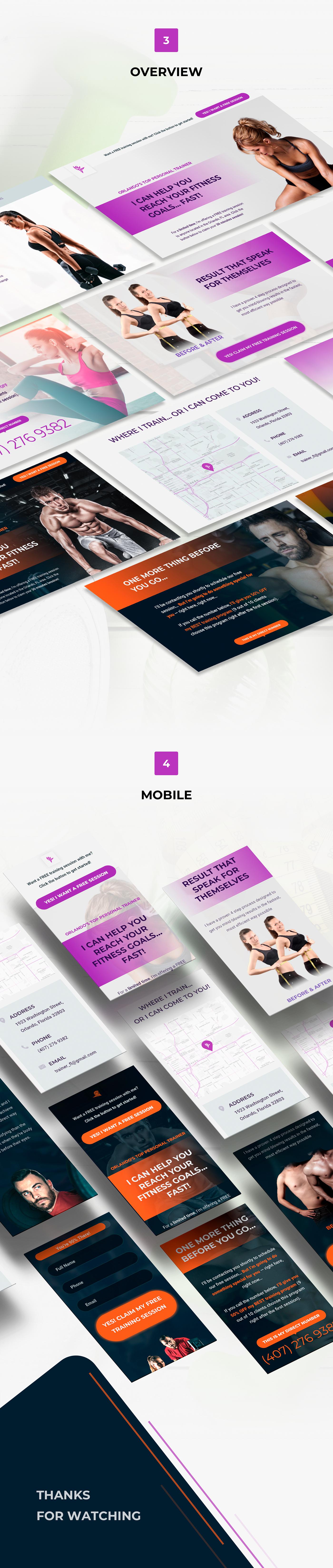 Web flat minimal typography   modern fitness workout Promotion template