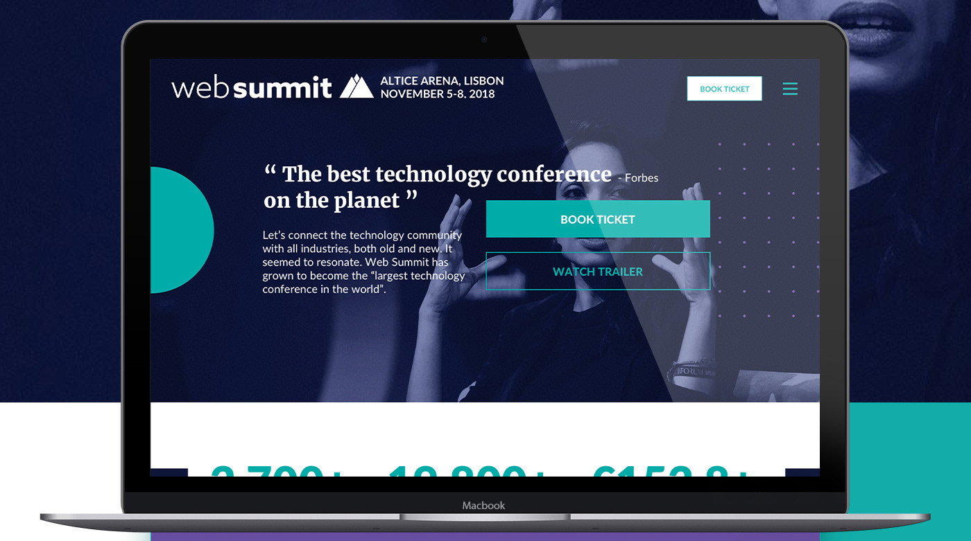 websummit,redesign,uiux,conferences,Startup,Webdesign,Website,modern,minimalistic,colorful