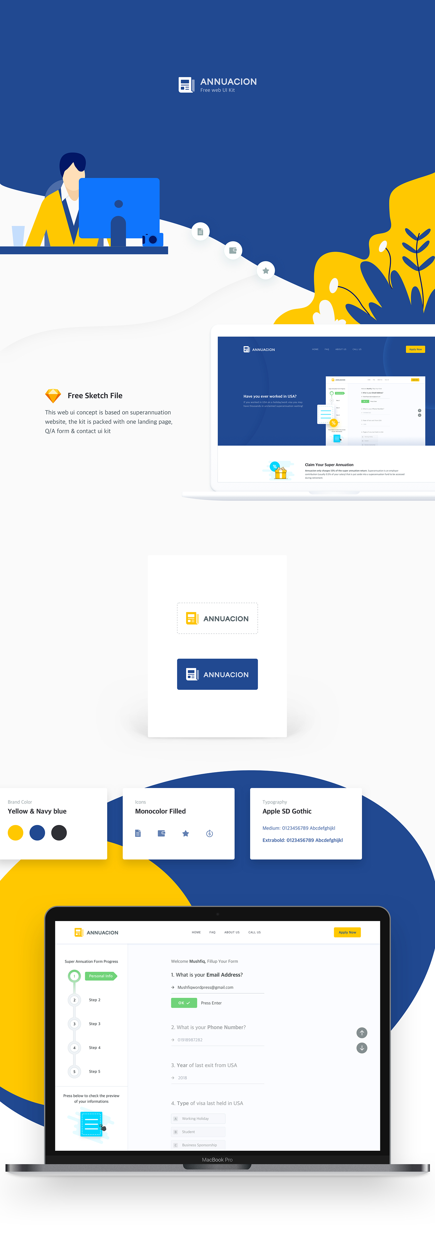 annuacion free web ui kit on behance
