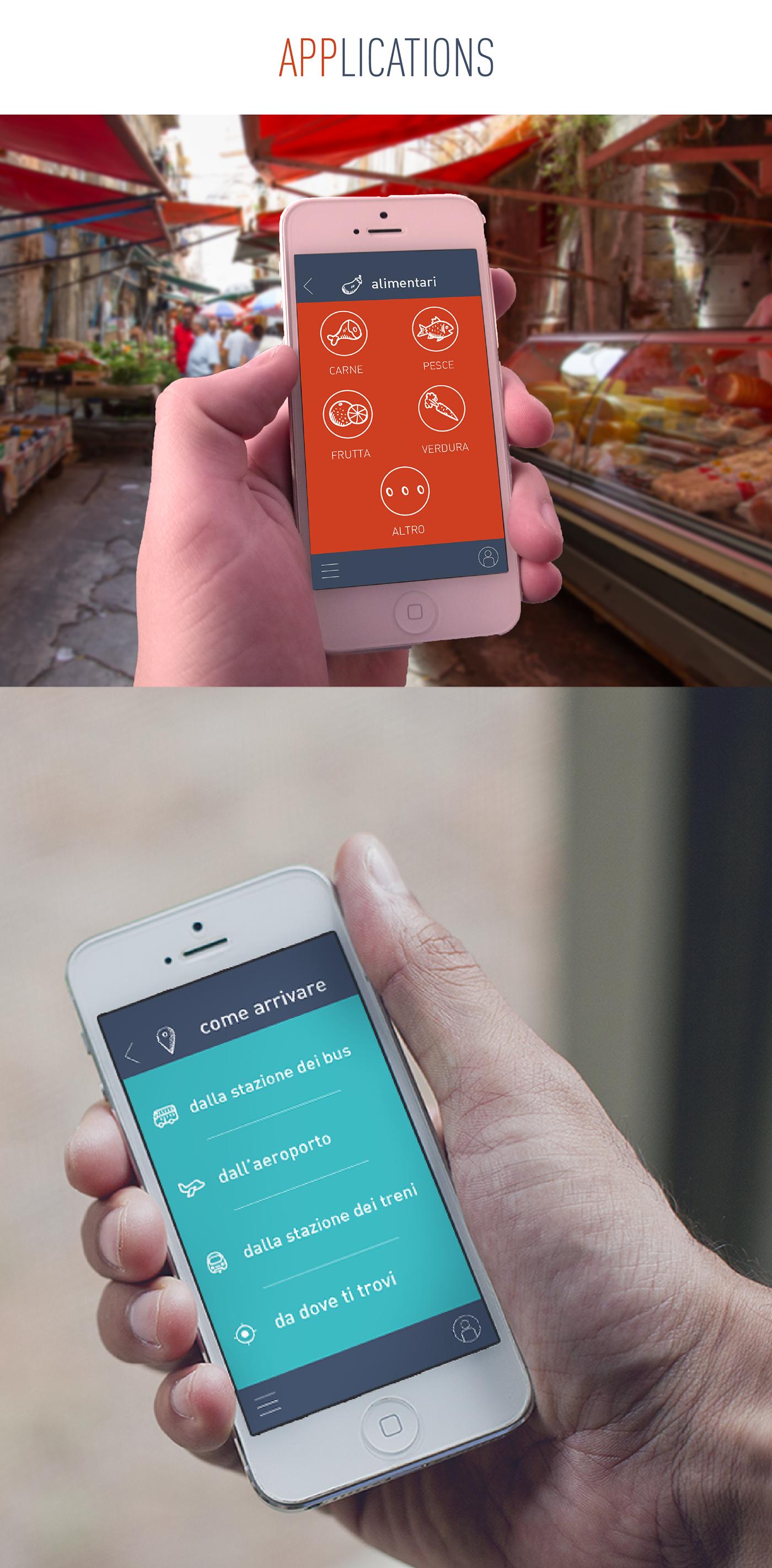 Food ,market,sicily,Palermo,interaction,design,phone,app,ui ux,mobile,discover,trip,journey,Travel,motion