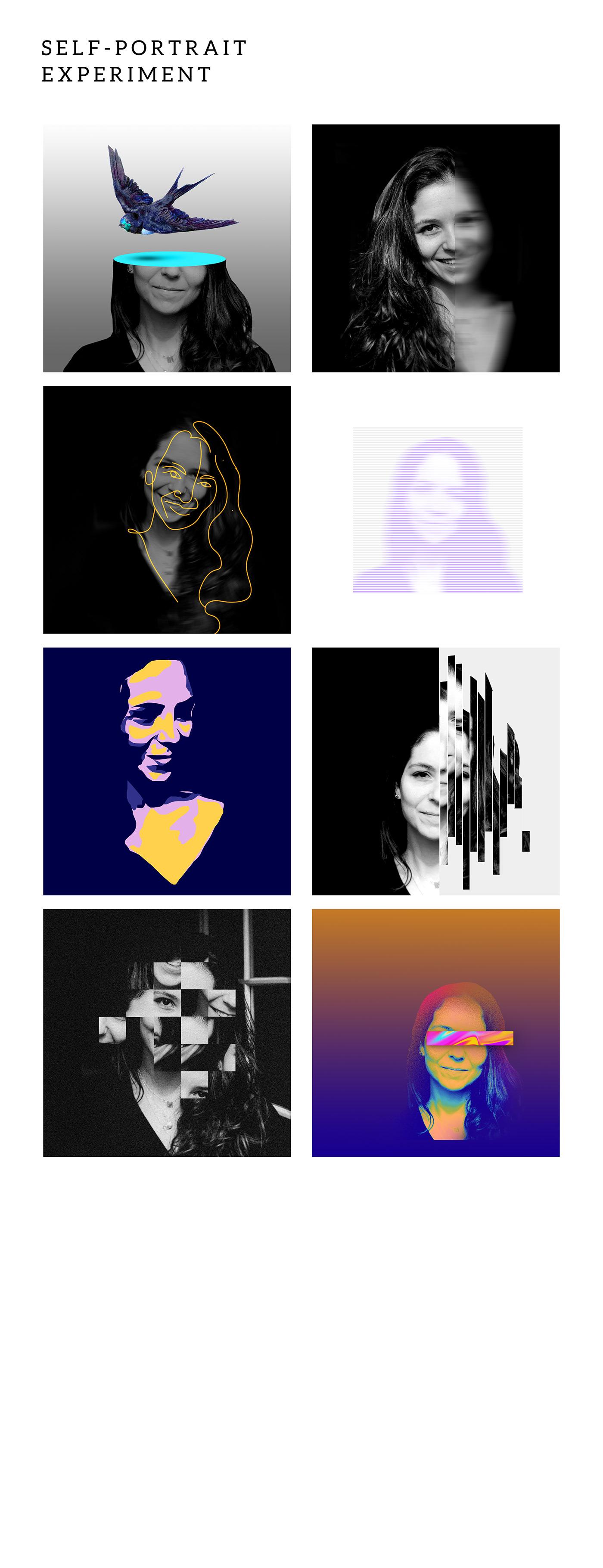 collage design digital graphic Photography  portrait self-portrait