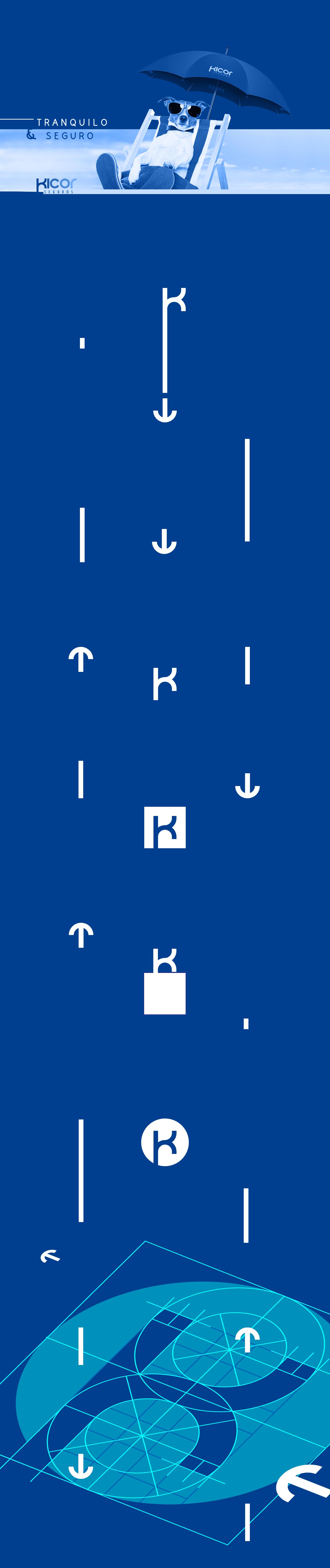 logo identity Logotype Logotipo grid branding  Icon Seguros