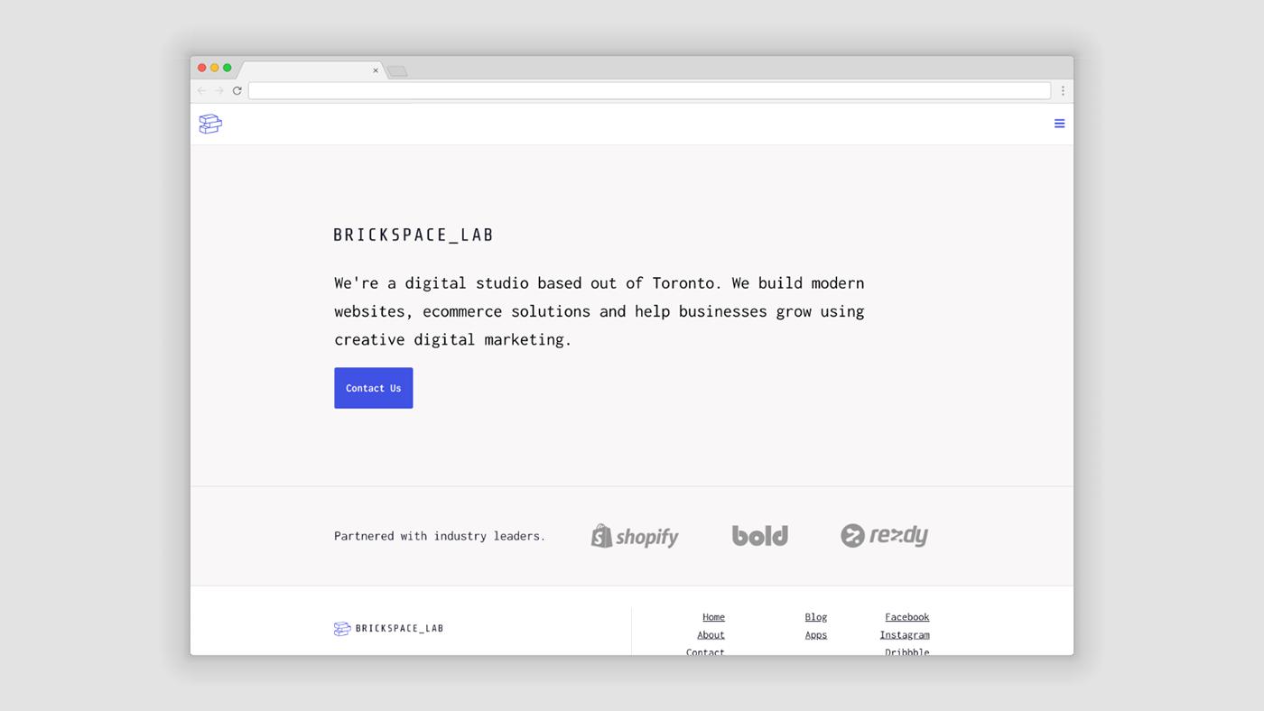 portfolio simple website Website logo logomark