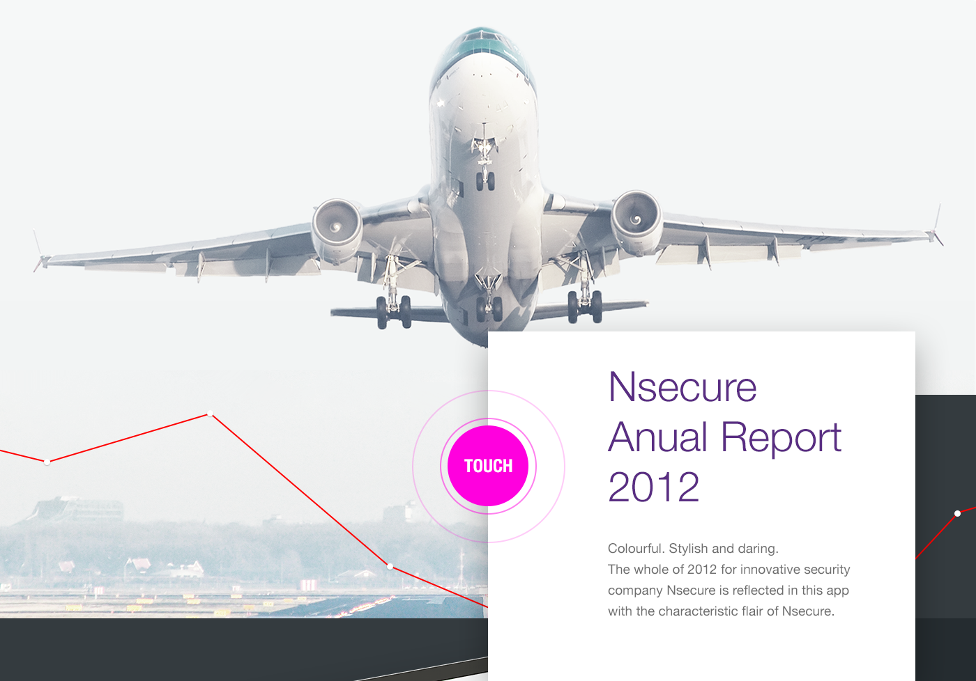 mobile app Cases interview report colorful annual report ANNUAL