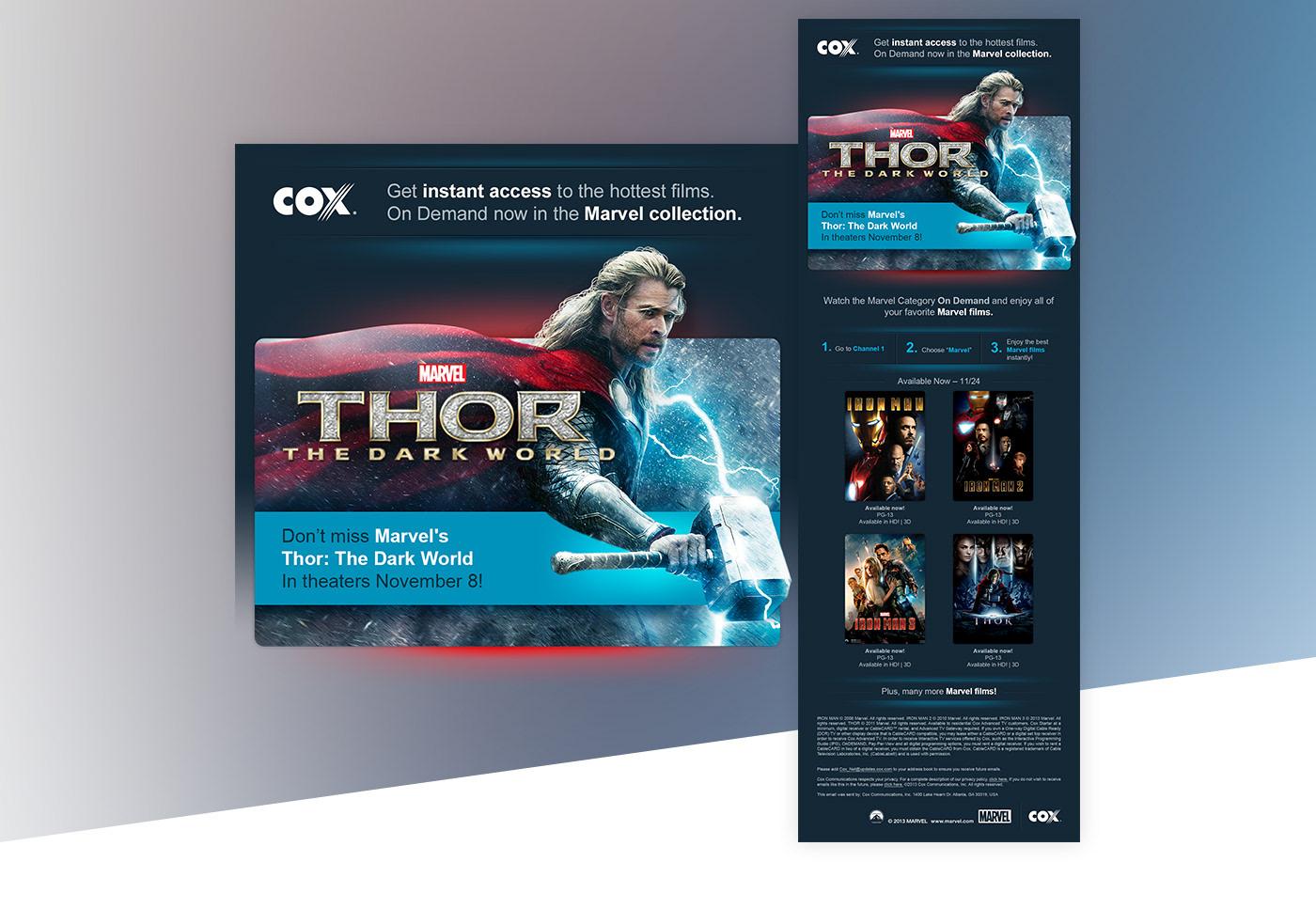 Email newsletter spectrum dish network marvel Cox OnDemand marketing   Movies