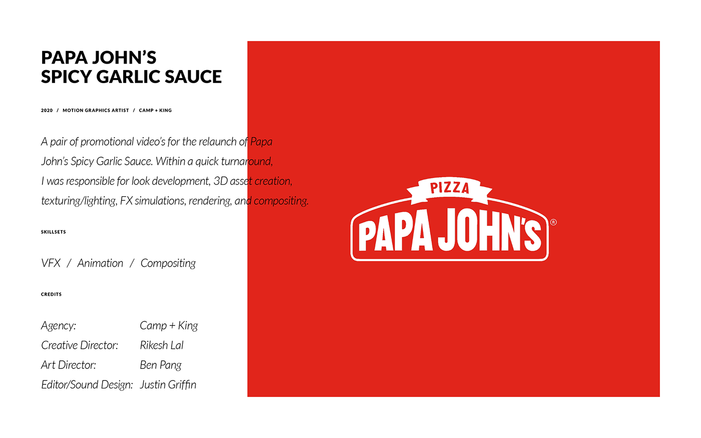 CGI cinema 4d fire meteor Papa John's Pizza Render Solid Angle Arnold spicy x-particles