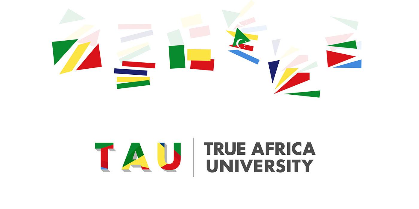 africa bold brand identity branding  Colourful  learning logo pan-african University visual identity