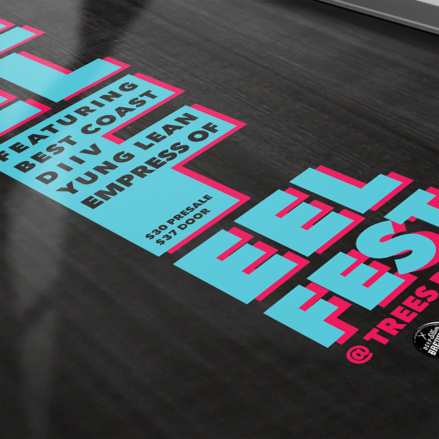Feel Feel Feel Music Festival festival dallas poster ticket button tshirt mock-up